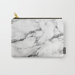 Greyish White Marble Carry-All Pouch
