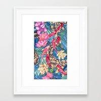 koi Framed Art Prints featuring Koi Pond by Vikki Salmela