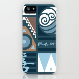 Korra and Amon Banners iPhone Case