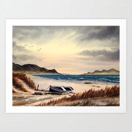 Mull Of Kintyre Scotland Art Print