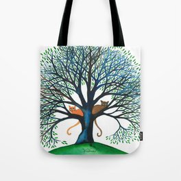 Corozal Whimsical Cats in Tree Tote Bag
