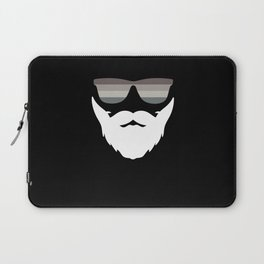 Smooth Operator - floating beard and glasses Laptop Sleeve