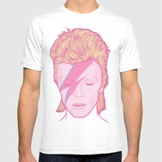 Bowie White LARGE Mens Fitted Tee