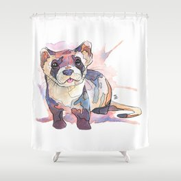 Black-Footed Ferret Shower Curtain