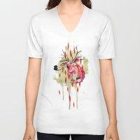 jackalope V-neck T-shirts featuring Jackalope by Manfish Inc.