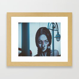 Indian girl mural Framed Art Print