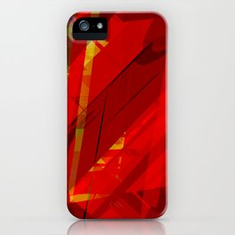 red spiky iPhone Case