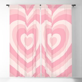 Pink Love Hearts  Blackout Curtain