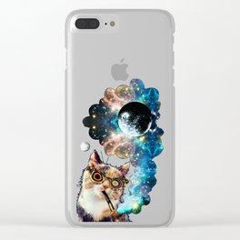 High Cat Clear iPhone Case