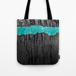 Aqua Stripe Tote Bag