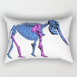Colored Skeleton Elephant Rectangular Pillow