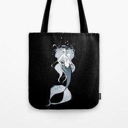 Mermaid with skull Tote Bag