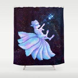 Vulpix Alola Wishing on a Star Shower Curtain