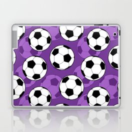Football Pattern on Purple Background Laptop & iPad Skin