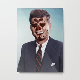 Day of the Dead Presidents: JFK Metal Print