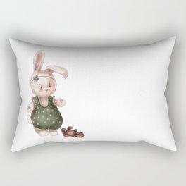 Cute little baby bunny  Rectangular Pillow