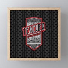 Teacher Shield Framed Mini Art Print