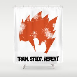 Gohan - Train. Study. Repeat. Shower Curtain
