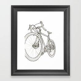 Straggler b/w Framed Art Print