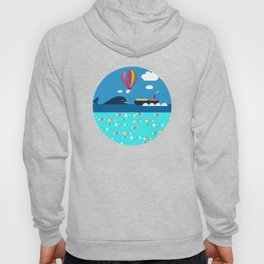 Meeting with whale Hoody