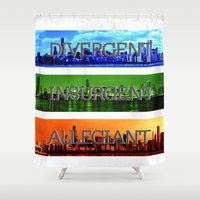 divergent Shower Curtains featuring Divergent by All Things M