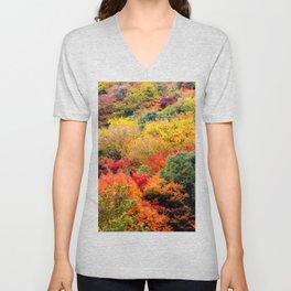 Autumn Forest Unisex V-Neck