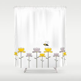 "Let it ""bee"" Shower Curtain"