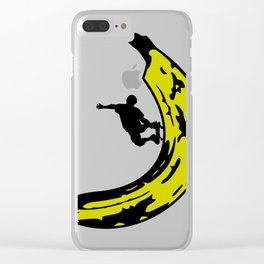 A Slick Banana Skater Clear iPhone Case