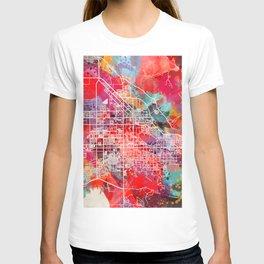 San Jacinto map California CA 2 T-shirt
