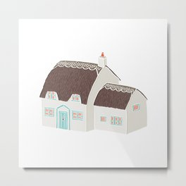 Little Thatched Cottage Metal Print