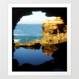 """Inside """"The Grotto"""" Looking Out! Art Print"""