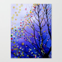 sparkling winter night sky Canvas Print