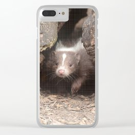 Halftone pixel fun SKUNK Baby Clear iPhone Case