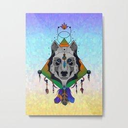 Wolf Shaman Metal Print