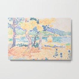 Pines on the Coastline by Henri-Edmond Cross, French Metal Print
