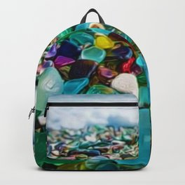 Kauai's Glass Beach, Hawaiian Portrait Backpack