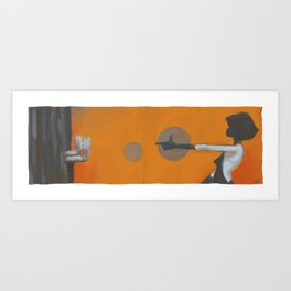 and then one thing led to another Art Print