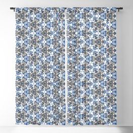 Angry Floral Stitches Blackout Curtain