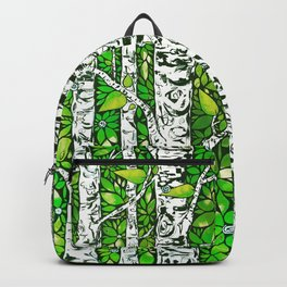 Green Birch Forest Backpack