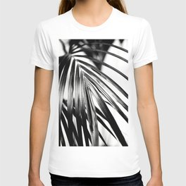 Black & White Palm Leaf #2 #decor #art #society6 T-shirt