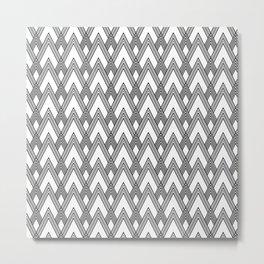 Minimal pattern Metal Print