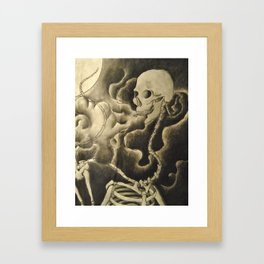 from out of the smog Framed Art Print