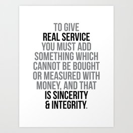 Real Service Quotes, Office Decor, Office Wall Art, Office Art, Office Gifts Art Print