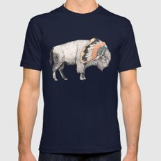 White Bison Navy Mens Fitted Tee MEDIUM