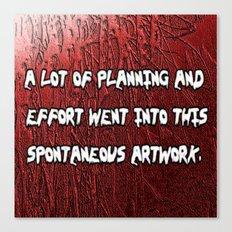 spontaneous Canvas Print