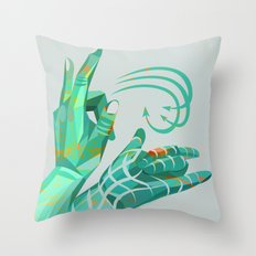 hand-shape aesthetic Throw Pillow