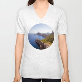 Earth Meets Water Unisex V-Neck