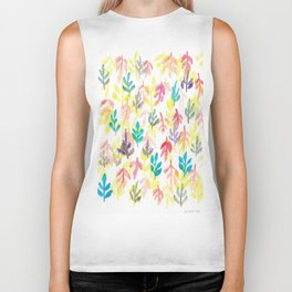 180726 Abstract Leaves Botanical 7|Botanical Illustrations Biker Tank