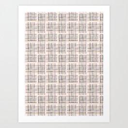 Criss Cross Weave Hand Drawn Art Print