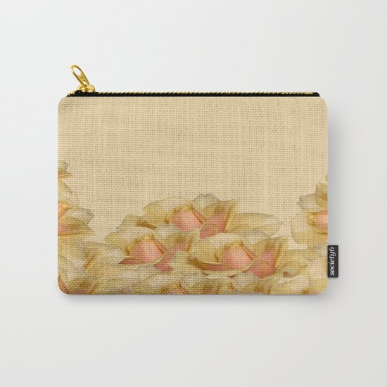 Peach Rose Delight Carry-All Pouch